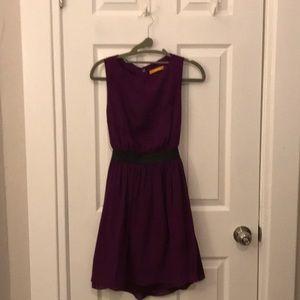Alice + Olivia cutout dress w/ leather waist